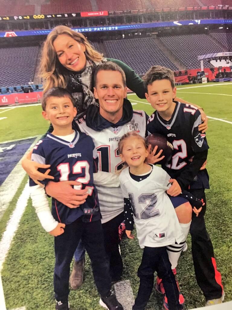 Tom Brady e família